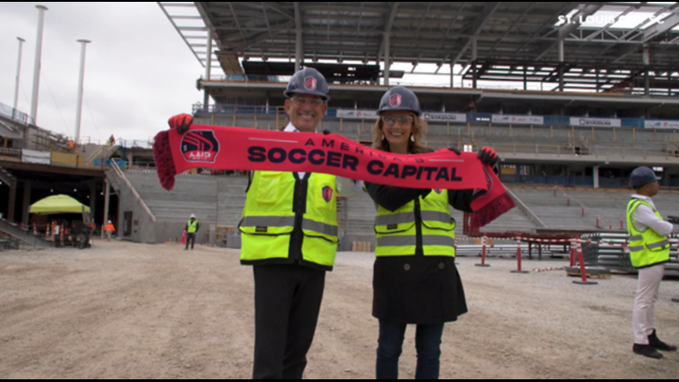 'This is soccer city USA': MLS commissioner visits new St. Louis stadium