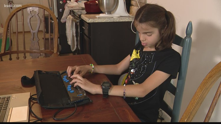 Local girl's incredible journey to the Braille Challenge finals