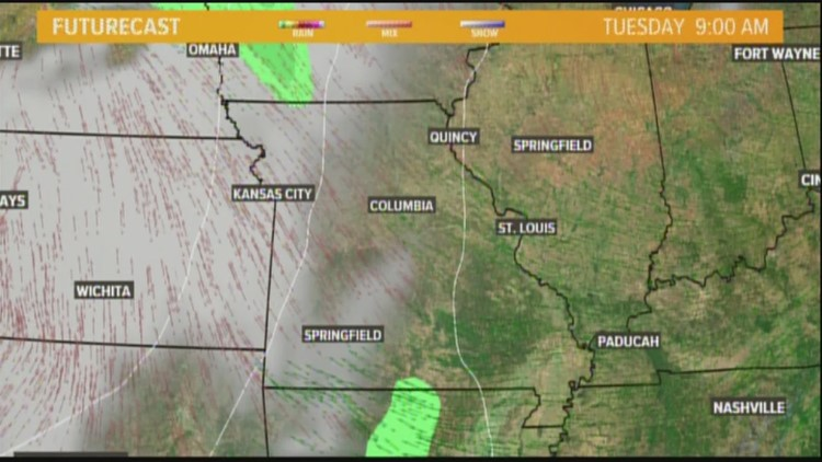 Tuesday weather forecast 4am