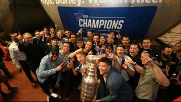 Check out where the Blues celebrated their Stanley Cup championship at Anheuser-Busch