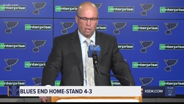 Blues end home-stand 4-3