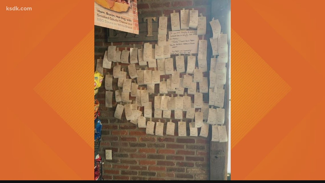 St. Charles deli pays it forward with wall of free meals