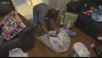 A St. Louis family is surprised with many Christmas blessings