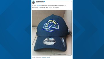 The Rams' new logo has reportedly been leaked, and the team is getting roasted online
