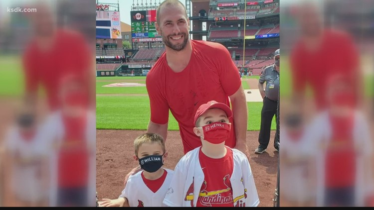Making a Difference: Boy recovering from brain tumor meets his Cardinals hero