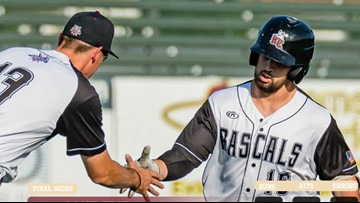 Rascals split doubleheader with Lake Erie Crushers