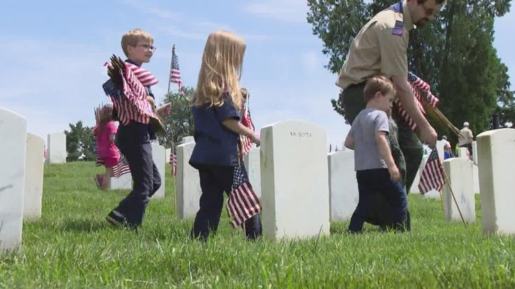 Scouts in St. Louis area resume Memorial Day tradition of honoring veterans