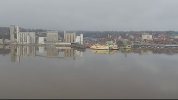 Drone captures stunning views of Alton, Mississippi River