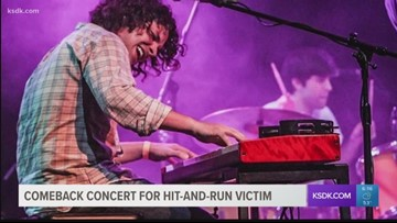 Comeback concert for hit-and-run victim