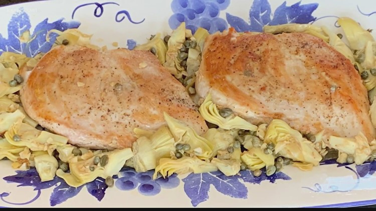 Recipe of the Day: Sautéed Chicken & Artichokes with Wine Reduction