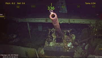 Underwater images released showing USS Hornet wreckage 76 years after she was sunk