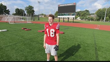 WashU football player, 3 sport scholar