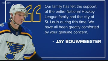 Jay Bouwmeester releases first statement since 'cardiac episode'