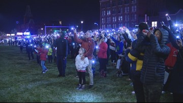 'It cheers up the place' | Hundreds shine lights to show support for children at Cardinal Glennon
