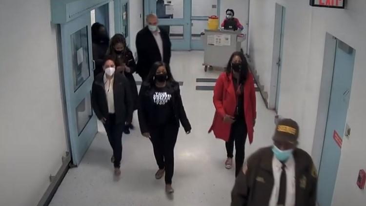 Surveillance video shows elected officials' tour of St. Louis jails