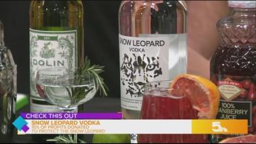 This vodka donates 15% of profits to Snow Leopard Trust