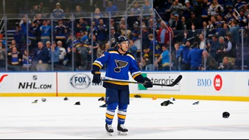 Schwartz, Perron lead the way offensively for Blues in 7-2 win over Oilers