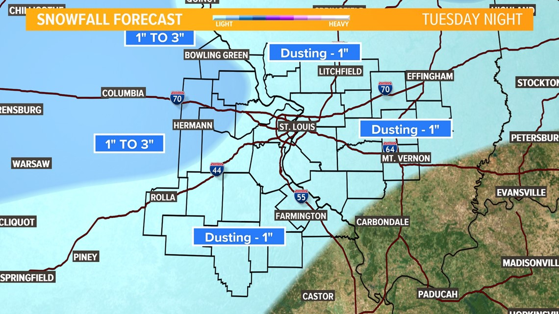 Storm Alert: Snow, ice and rain expected Tuesday evening