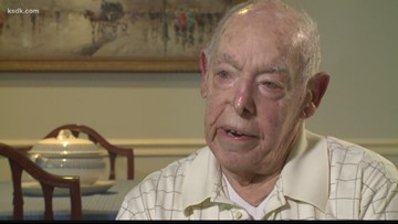 This 97-year-old veteran from St. Louis was a bombardier on D-Day