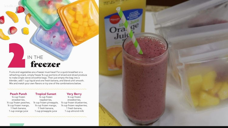 Happy, Healthy Kids | Breakfast Recipe with Schnucks: Smoothie Freezer Bags