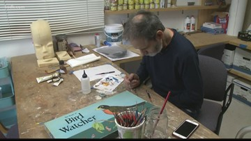 Paralyzed hockey player becomes artist and inspiration