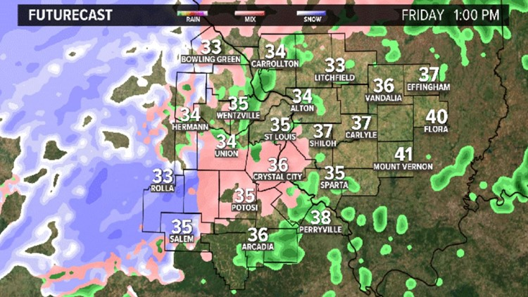 Another round of sleet, snow this afternoon as storm moves out