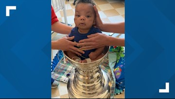 Stanley Cup surprises children at SSM Health Cardinal Glennon Children's Hospital