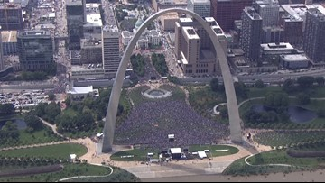 The parade cleanup in Downtown St  Louis didn't take long