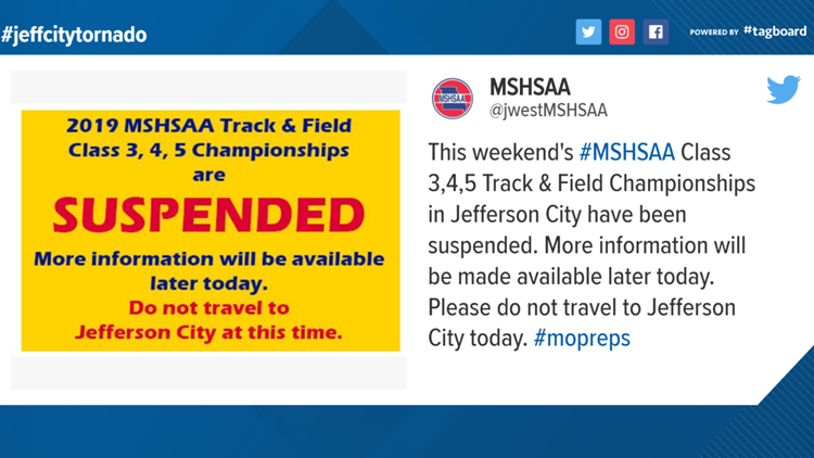 MSHSAA Track & Field Championships suspended