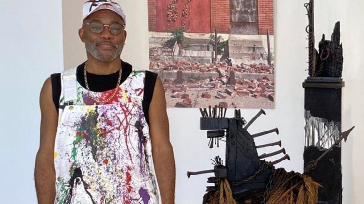 Ronald Young's art exhibition explores African diaspora and concept behind power objects