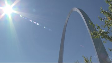 Workers unveil a secret on the anniversary of the Gateway Arch
