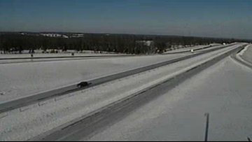 Roads still covered by ice and snow in southeast Missouri