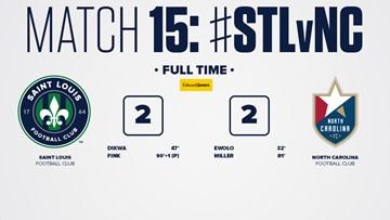 STLFC comes back to draw 2-2 against North Carolina FC