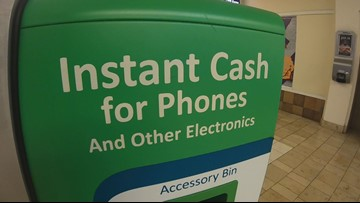 Stolen phones keep getting sold to recycling kiosks