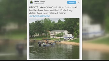 Victims in fatal boat crash at Lake of the Ozarks identified