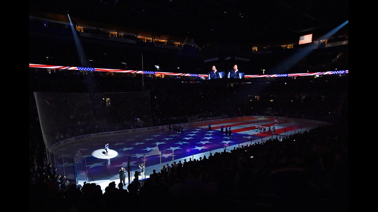 Here's who will be singing the national anthem at Blues games this season