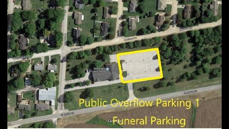 Trooper Hopkins funeral parking