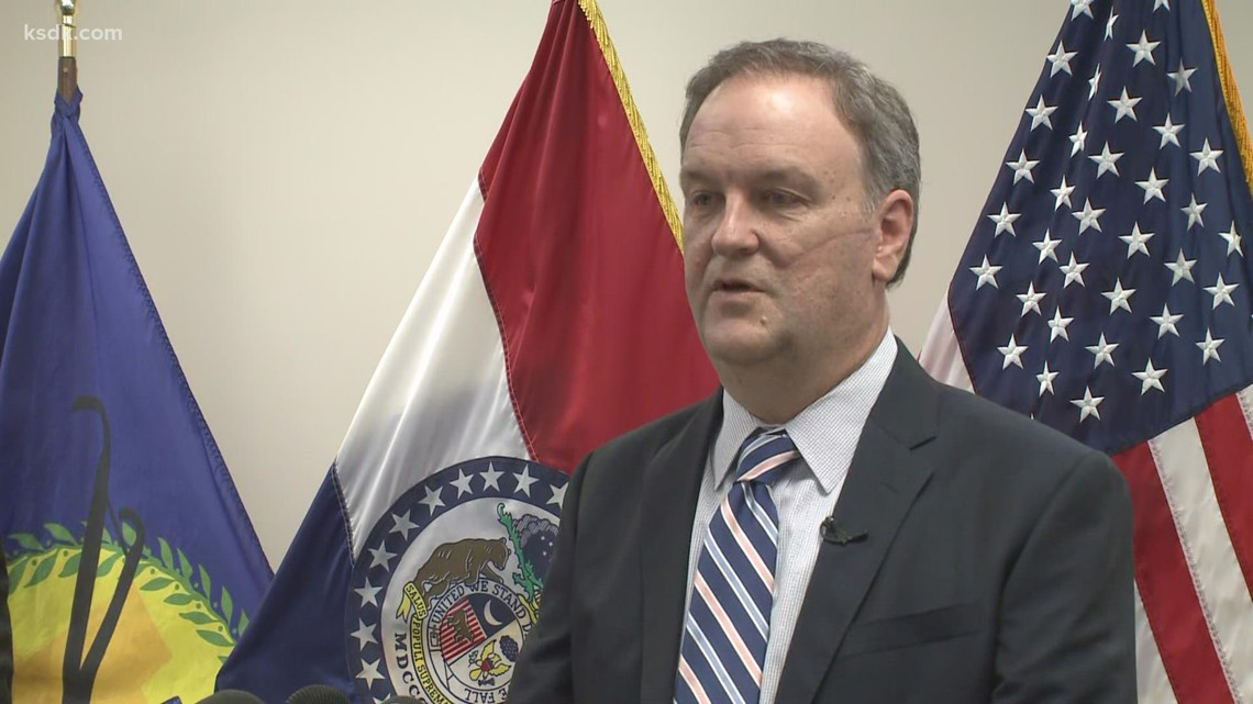 St. Louis County Executive Sam Page holds briefing to discuss council vote on mask mandate