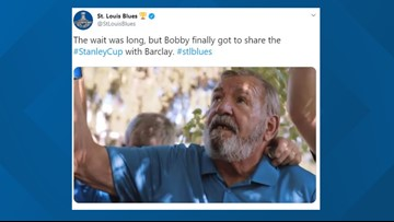 Blues share emotional video of Bob Plager taking the Stanley Cup to his late brother Barclay's grave