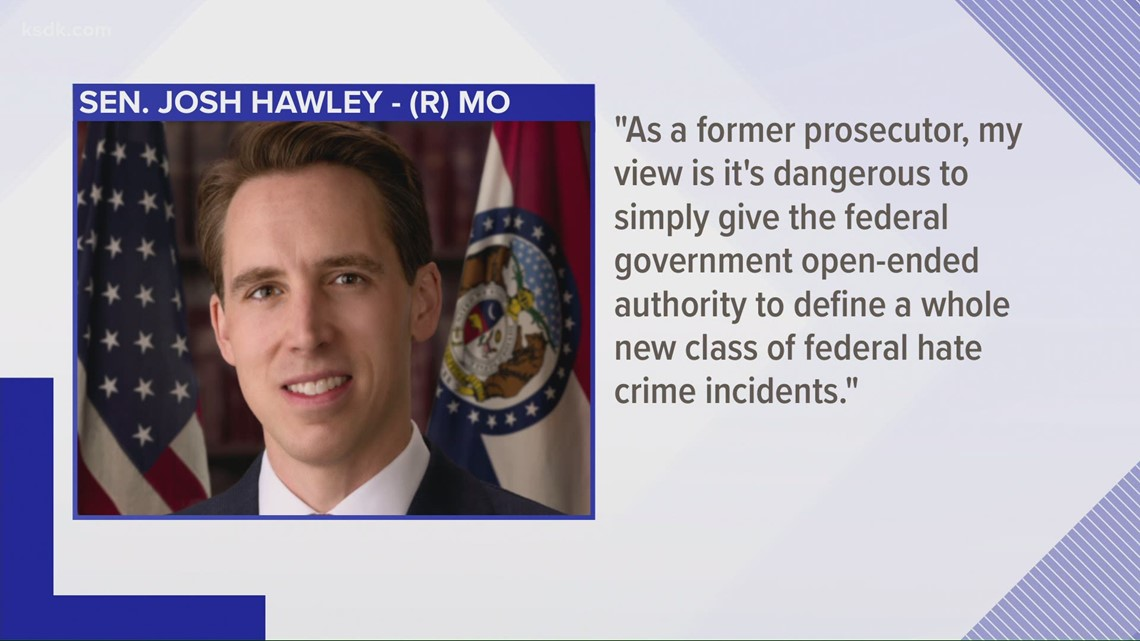 Josh Hawley only 'No' vote on COVID-19 Hate Crimes Act