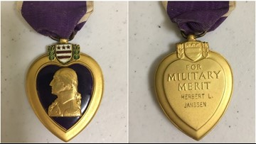 Connection made! Family found after Purple Heart medal found in donations at St. Louis County American Legion post