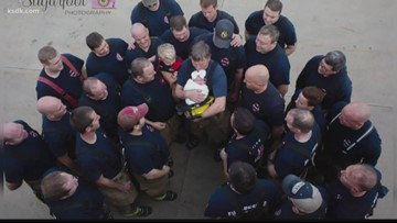 Swansea firefighters welcome new daughter of fellow firefighter killed in April crash