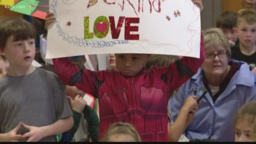 Kids march for kindness during crisis