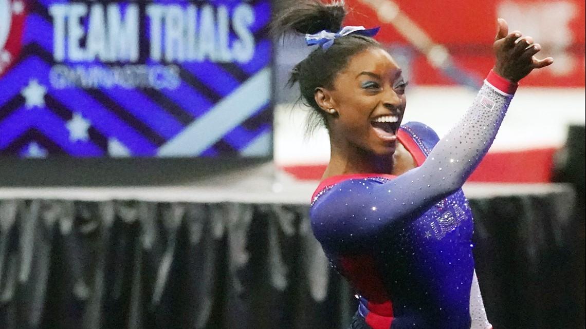 Watch: Simone Biles readies Olympic performances at podium training