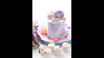 Recipe of the Day: Lavender Cake + Raspberry Buttercream