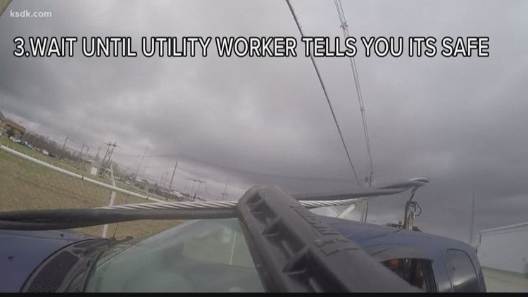 Would you know what to do, if you live powerline fell onto your car?