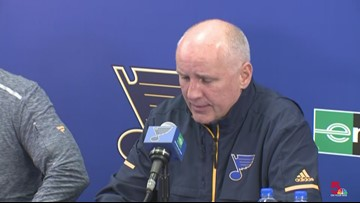 WATCH: Craig Berube on how he plans to move Blues in a winning direction