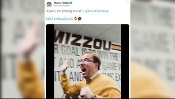 Watch: Mizzou head coach Eliah Drinkwitz celebrates after Tigers land top recruit