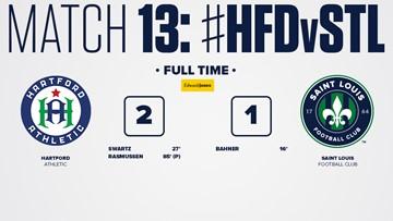 STLFC falls 2-1 away to Hartford Athletic