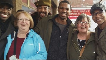 Retired teachers reconnect with former 8th grade student on Broadway